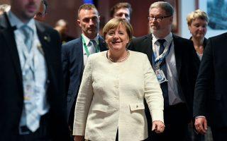 German Chancellor Angela Merkel arrives for a news conference at the European Union leaders summit in Brussels, Belgium October 18, 2018. REUTERS/Piroschka van de Wouw