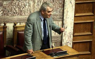 Ο αναπληρωτής υπουργός Δικαιοσύνης, Δημήτρης Παπαγγελόπουλος, μιλάει στη συζήτηση επί της πρότασης δυσπιστίας της Νέας Δημοκρατίας κατά της Κυβέρνησης, στην Ολομέλεια της Βουλής, Αθήνα, Σάββατο 16 Ιουνίου 2018. ΑΠΕ-ΜΠΕ/ ΑΠΕ-ΜΠΕ/ ΣΥΜΕΛΑ ΠΑΝΤΖΑΡΤΖΗ