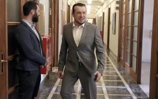 Ο υπουργός Ψηφιακής Πολιτικής, Τηλεπικοινωνιών και Ενημέρωσης Νίκος Παππάς  προσέρχεται στη συνεδρίαση του Υπουργικού Συμβουλίου υπό την προεδρεία του πρωθυπουργού Αλέξη Τσίπρα στη Βουλή,  Αθήνα, Τρίτη 16 Οκτωβρίου 2018. ΑΠΕ-ΜΠΕ/ΑΠΕ-ΜΠΕ/ΣΥΜΕΛΑ ΠΑΝΤΖΑΡΤΖΗ