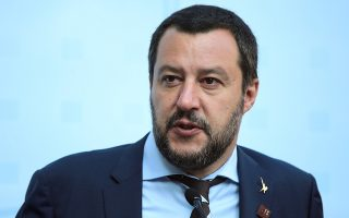 FILE PHOTO: FILE PHOTO: Italy's Matteo Salvini attends a news conference during an informal meeting of EU Home Affairs Ministers in Innsbruck, Austria, July 12, 2018. REUTERS/Lisi Niesner/File Photo/File Photo