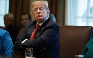 President Donald Trump listens during a cabinet meeting in the Cabinet Room of the White House, Wednesday, Oct. 17, 2018, in Washington. (AP Photo/Evan Vucci)
