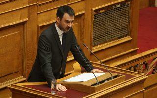 Ο αναπληρωτής υπουργός Οικονομίας και Ανάπτυξης  Αλέξανδρος Χαρίτσης  μιλάει στη σημερινή συζήτηση του πολυνομοσχεδίου «Ρυθμίσεις για την εφαρμογή των διαρθρωτικών μεταρρυθμίσεων του Προγράμματος Οικονομικής Προσαρμογής και άλλες διατάξεις