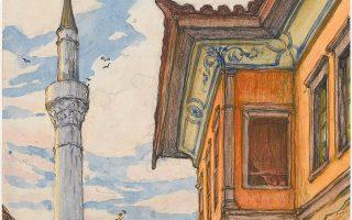 Εργο του Σαρλ Μαρτέλ από την έκθεση «Η στρατιά της Ανατολής ζωγραφίζει στη Θεσσαλονίκη».