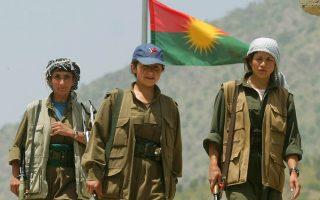 Γυναίκες της ένοπλης αποσχιστικής οργάνωσης των Κούρδων της Τουρκίας ΡΚΚ, στο βόρειο Ιράκ.