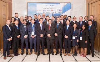 Η διοίκηση της Eurobank με τα μέλη του Trade Club Alliance.