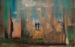 «Φυγή», 50x70 εκ. ακρυλικό σε καμβά. Της Γεύσως Παπαδάκη από την ατομική έκθεση ζωγραφικής «Της αγάπης συλλαβές». Gallery Genesis, Χάρητος 35, Κολωνάκι. Εως 8 Δεκεμβρίου.