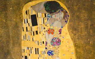 «Το φιλί», ο διάσημος πίνακας που ο Γκούσταβ Κλιμτ φιλοτέχνησε στη λεγόμενη «χρυσή του εποχή», το 1907-08.