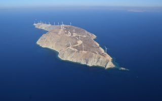 Στη νησίδα έχει δημιουργηθεί αιολικό πάρκο ισχύος 70 MW από την ΤΕΡΝΑ.
