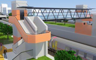 Νέες άνω διαβάσεις πεζών και έργα πρασίνου περιλαμβάνει ο σχεδιασμός της ΕΡΓΟΣΕ.