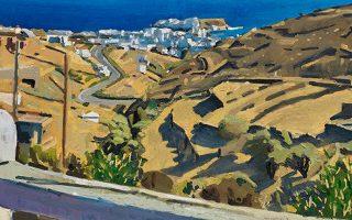 Ενα από τα τοπία του Νίκου Κυριακόπουλου. Στην Evripides Art Gallery, Ηρακλείτου 10 και Σκουφά, έως την 1η Δεκεμβρίου.