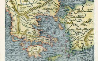 O χάρτης «Νova Graecia» σχεδιάστηκε από τον Σεμπάστιαν Μούνστερ για την «Κοσμογραφία» του, που εκδόθηκε το 1550. Χωρίς διακόσμηση και ακρίβεια, είναι ωστόσο εξαιρετικό δείγμα ξυλογραφίας και διακρίνεται για τη ρεαλιστική αναπαράσταση των βουνών, ενώ η θάλασσα απεικονίζεται με κυματοειδείς γραμμές.