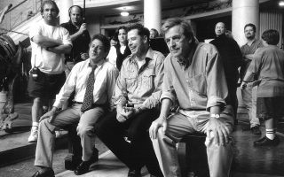 1997. Mε τους Ντ. Χόφμαν και Τζ. Τραβόλτα στα γυρίσματα του «Mad City».