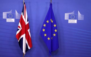 British and EU flags are seen before Britain's Prime Minister Theresa May meets with Commission President Jean-Claude Juncker to discuss draft agreements on Brexit, at the EC headquarters in Brussels, Belgium November 21, 2018.  REUTERS/Yves Herman