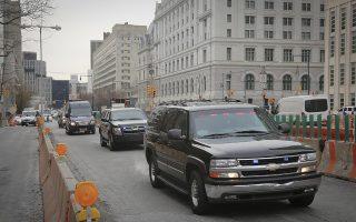 A police convoy with Mexican drug kingpin Joaquin