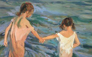 «Παιδιά στη θάλασσα» (1909), έργο του Ισπανού ζωγράφου Χοακίν Σορόλα.