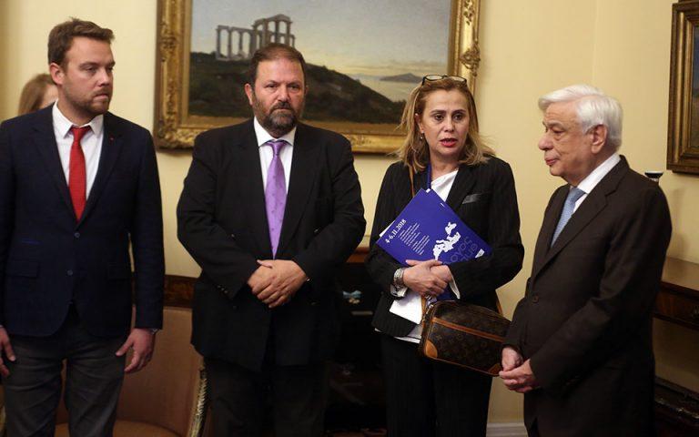Συνάντηση Παυλόπουλου με την πρόεδρο της ΕΣΗΕΑ και προέδρους δημοσιογραφικών ενώσεων