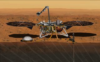 FILE PHOTO: The NASA Martian lander InSight dedicated to investigating the deep interior of Mars is seen in an undated artist's rendering.  NASA on Wednesday said it would fix the InSight lander that was grounded in December due to a leak in its primary science instrument, putting the mission back on track for another launch attempt in 2018.  REUTERS/NASA/JPL-Caltech/Handout via Reuters/File Photo    THIS IMAGE HAS BEEN SUPPLIED BY A THIRD PARTY. IT IS DISTRIBUTED, EXACTLY AS RECEIVED BY REUTERS, AS A SERVICE TO CLIENTS. FOR EDITORIAL USE ONLY. NOT FOR SALE FOR MARKETING OR ADVERTISING CAMPAIGNS