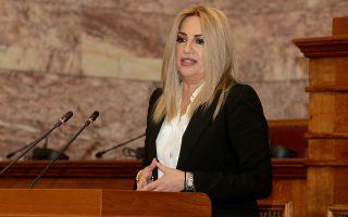 Η πρόεδρος του Κινήματος Αλλαγής Φώφη Γεννηματά μιλά σε εκδήλωση για την παρουσίαση της Πρότασης Νόμου με θέμα: «Πρώτη δέσμη μέτρων οικονομικής ανάκαμψης και κοινωνικής δικαιοσύνης» , Τρίτη 20 Νοεμβρίου 2018. Εκδήλωση στην αίθουσα Γερουσίας της Βουλής για την παρουσίαση της Πρότασης Νόμου με θέμα: «Πρώτη δέσμη μέτρων οικονομικής ανάκαμψης και κοινωνικής δικαιοσύνης» διοργάνωσε η Κοινοβουλευτική Ομάδα του Κινήματος Αλλαγής. ΑΠΕ-ΜΠΕ/ΑΠΕ-ΜΠΕ/Παντελής Σαίτας