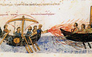 Το υγρόν πυρ αποτέλεσε ένα από τα αποτελεσματικότερα όπλα της Βυζαντινής Αυτοκρατορίας και ο τρόπος παρασκευής του παρέμεινε μυστικός.