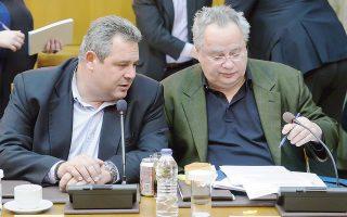 Ο κ. Κοτζιάς ανέφερε χθες, για μία ακόμη φορά, το ταξίδι του κ. Π. Καμμένου στις ΗΠΑ και την πρόταση του υπουργού Αμυνας για «βαλκανική συμμαχία» ως έναν από τους λόγους παραίτησής του.