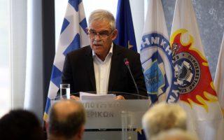 Ο απερχόμενος αναπληρωτής υπουργός Προστασίας του Πολίτη Νίκος Τόσκας , στην σημερινή  παράδοση παραλαβή καθηκόντων στο Υπουργείο Προστασίας του Πολίτη, Σάββατο 4 Αυγούστου 2018. Ο  ΥΠΕΣ Πάνος Σκουρλέτης (δε διακρίνεται) αναλαμβάνει  τα καθήκοντα του απερχόμερνου υπουργού. ΑΠΕ - ΜΠΕ/ΑΠΕ - ΜΠΕ/Αλέξανδρος Μπελτές