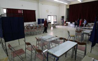 Άδεια τα παραβάν και οι κάλπες στην αίθουσα ενώ τα μέλη του κόμματος αποχωρούν μετά την αναβολή των εσωκομματικών εκλογών της ΝΔ για την ανάδειξη νέου αρχηγού, την Κυριακή 22 Νοεμβρίου 2015. Την αναβολή των εσωκομματικών εκλογών της ΝΔ αποφάσισε ομόφωνα η ΚΕΦΕ που συνεδρίασε εκτάκτως λόγω των σοβαρών τεχνικών προβλημάτων που εμπόδισαν την έναρξη της εκλογικής διαδικασίας. ΑΠΕ ΜΠΕ/ΑΠΕ ΜΠΕ/Αλέξανδρος Βλάχος
