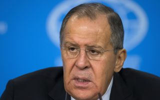 Russian Foreign Minister Sergey Lavrov speaks during his annual roundup news conference summing up his ministry's work in 2017, in Moscow, Russia, Monday, Jan. 15, 2018. (AP Photo/Alexander Zemlianichenko)