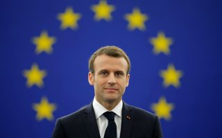 French President Emmanuel Macron arrives to deliver a speech before a debate on the Future of Europe at the European Parliament in Strasbourg, France, April 17, 2018. REUTERS/Vincent Kessler
