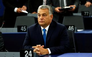 Hungarian Prime Minister Viktor Orban arrives to attend a debate on the situation in Hungary at the European Parliament in Strasbourg, France, September 11, 2018.  REUTERS/Vincent Kessler