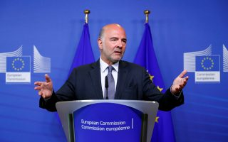 European Economic and Financial Affairs Commissioner Pierre Moscovici speaks during a news conference in Brussels, Belgium August 20, 2018. REUTERS/Francois Lenoir
