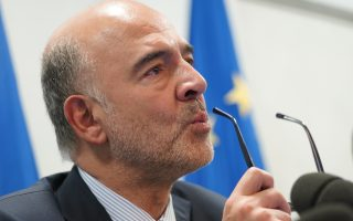 European Commissioner for Economic and Financial Affairs Pierre Moscovici talks to the media during a press conference, in Rome, Friday, Oct. 19, 2018. The European Union's presidency says Italy must change it draft budget because otherwise the country would only threaten its own financial health as well as that of its partners. (AP Photo/Andrew Medichini)