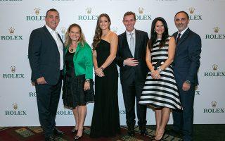 Νίκος Πατσέας, Σοφία Βαχάρη-Τσουβελεκάκη (Marketing & Communications Director Rolex Hellas), Μαρία Σάκκαρη, Βασίλης Καίσαρης, Ηρώ Βαχάρη (CEO Rolex Hellas) και Ζίρος Τζανικιάν