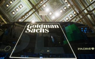 A Goldman Sachs sign is seen above the floor of the New York Stock Exchange shortly after the opening bell in the Manhattan borough of New York in this January 24, 2014, file photo.  Goldman Sachs  is expected to report Q4 earnings January 20, 2016. REUTERS/Lucas Jackson/FilesGLOBAL BUSINESS WEEK AHEAD PACKAGE - SEARCH