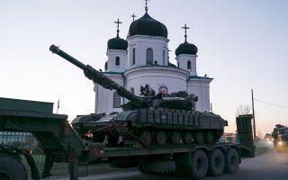 Ουκρανικά τανκς μεταφέρονται στην νότια ακτής της Θάλασσας του Αζόφ