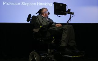 Professor Stephen Hawking during a press conference in London, Tuesday, Dec. 2, 2014. Professor Hawking and Intel discussed the latest developments on how technology enhancements are going to have a wider impact on those, like Professor Hawking that suffer from Amyotrophic lateral sclerosis (ALS). (AP Photo/Kirsty Wigglesworth)