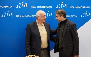 Ο πρόεδρος της Ν.Δ. Κυρ. Μητσοτάκης με τον πρόεδρο του συνεδρίου Eυ. Μεϊμαράκη, κατά τη διάρκεια της χθεσινής συνεδρίασης της Οργανωτικής Επιτροπής του κόμματος στα γραφεία της Πειραιώς.