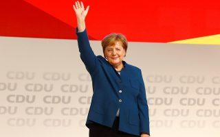 Η Αγκελα Μέρκελ αποχαιρετά το κόμμα μετά εννέα συναπτές διετείς θητείες στην ηγεσία.