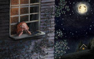 Στην τρυφερή «Αστερόσκονη» η συγγραφέας (Τζιν Γουίλις) και η ικανή εικονογράφος (Μπράιονι Μέι Σμιθ) αγγίζουν το ευαίσθητο ζεύγος μεγάλη - μικρή αδερφή.