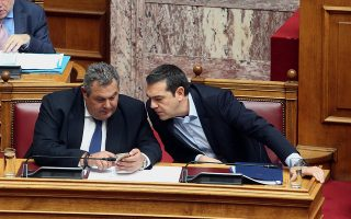Ο κ. Π. Καμμένος παραβίασε ξανά χθες τις εντολές του πρωθυπουργού Αλ. Τσίπρα και το μεταξύ τους μορατόριουμ, επιτιθέμενος σφόδρα στην ΠΓΔΜ.