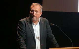 Ο Κρ. Σαντεπί, σε πρόσφατη ομιλία του σε επιχειρηματικό συνέδριο, στη Στέγη Γραμμάτων και Τεχνών του Ιδρύματος Ωνάση, στην Αθήνα.
