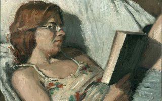 «Η Μαργαρίτα που διαβάζει» (2017), ένα από τα πορτρέτα του Κωνσταντίνου Κερεστετζή.