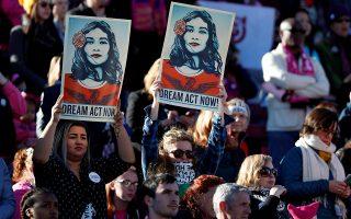 Μαχητική διαδήλωση του κινήματος Women's March, τον περασμένο Ιανουάριο, στο Λας Βέγκας της Νεβάδα.