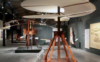 Αποψη από την έκθεση «Leonardo Da Vinci, 500 Years of Genius».
