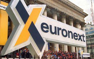 Η Euronext είναι υπεύθυνη για τη λειτουργία των χρηματιστηρίων του Παρισιού, του Αμστερνταμ, των Βρυξελλών, του Δουβλίνου και της Λισσαβώνας.