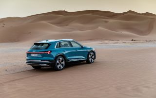 The Audi e-tron in Abu Dhabi,