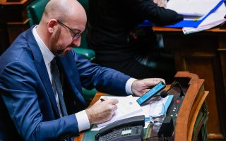 epa07212369 Belgian Prime Minister Charles Michel during a plenary session in Brussels, Belgium, 06 December 2018. Reports state that the Belgian Parliament has to vote on the UN migration pact during the session on 06 December 2018.  EPA/STEPHANIE LECOCQ
