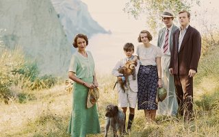 Picture shows: Louisa Durrell (KEELEY HAWES), Gerald Durrell (MILO PARKER), Margo Durrell (DAISY WATERSTONE), Lawrence Durrell (JOSH O'CONNOR) and Leslie Durrell (CALLUM WOODHOUSE)