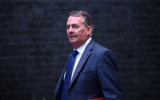 FILE PHOTO: Britain's Secretary of State for International Trade Liam Fox arrives in Downing Street, London, September 4, 2018. REUTERS/Hannah McKay