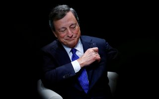 FILE PHOTO: European Central Bank (ECB) President Mario Draghi attends a ceremony  in Lausanne, Switzerland May 4, 2017.  REUTERS/Denis Balibouse/File Photo