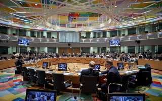 O υπουργός Οικονομικών Ευκλείδης Τσακαλώτος (4Α) συμμετέχει στη συνεδρίαση του Eurogroup, τη Δευτέρα 3 Δεκεμβρίου 2018, στην έδρα του Ευρωπαϊκού Συμβουλίου, στις Βρυξέλλες.  ΑΠΕ-ΜΠΕ/consilium.europa.eu/STR